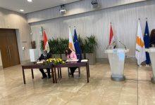 صورة توقيع مذكرة تفاهم للربط الكهربائى الثنائى بين مصر وقبرص
