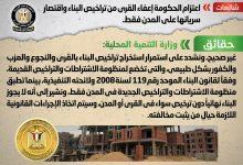 صورة شائعة : اعتزام الحكومة إعفاء القرى من تراخيص البناء واقتصار سريانها على المدن فقط