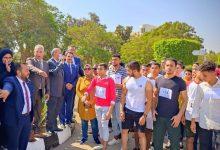 صورة ماراثون رياضي بجامعة المنيا احتفالاً بانتصارات أكتوبر